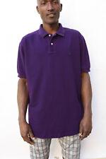 Polo Ralph Lauren Mens Polo Shirt Top Purple Short Sleeved  Cotton XL