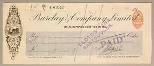 Barclay & Company Limited cheque - Eastbourne 1910, CHQ No.08232