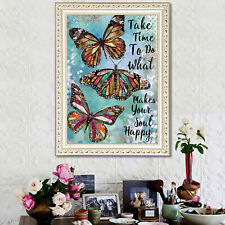 DIY 5D Butterfly Diamond Painting Kits Crystal Picture Arts Crafts Gifts