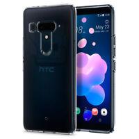 For HTC U12 Plus | Spigen® [Liquid Crystal] Shockproof Clear TPU Slim Cover Case