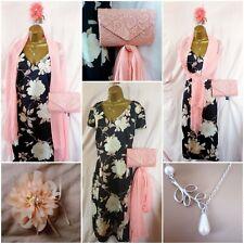 Bnwot. Size 20/22 Mother Bride/Wedding Guest Floral Dress & Accessories (20/BSI)