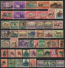 SOUTH AFRICA, Old Only-50 Different Used Stamps-Large & Small