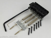 BLACK TREMOLO BRIDGE + TREMOLO ARM + 6 BRIDGE SCREWS for Stratocaster guitar