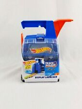 Hot Wheels Track Builders Systems Display Launcher with 2 Cars Holds 6 Cars