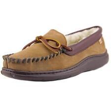 Pantofole da uomo beige in camoscio