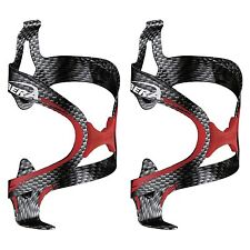 IBERAUSA Bicycle Carbon Color-Red Fusion Water Bottle Cage Pair NEW BC12-CB-PR