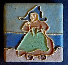 Calco Dutch Girl Antique Tile