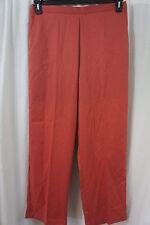 Alfred Dunner Pants Sz 14 Paprika Proportioned Medium Elastic Waist Dress Slack