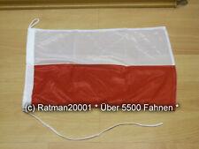 Fahnen Flagge Polen Bootsfahne Tischwimpel - 30 x 45 cm