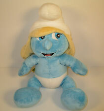 "2011 Smurfette 16"" Plush Stuffed Animal Figure Smurfs Build-A-Bear Workshop"