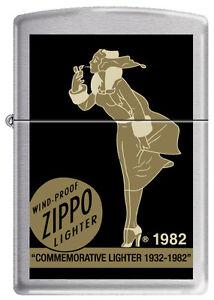 Zippo Commemorative Windy Girl Lighter 1932 - 1982 VERY RARE, HARD TO FIND 5705