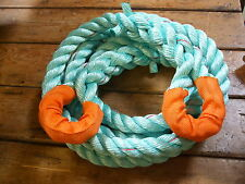 TOW ROPE - OFF ROAD - 4 X 4 RECOVERY  4.5mtr x 28mm POLYSTEEL 13.7 ton rope