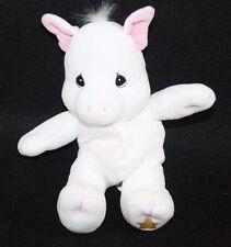 "Pig Tender Tail Precious Moments Plush Bean Bag Stuffed Animal Lovey White 8.5"""