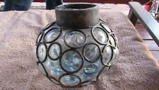 VERY COOL VINTAGE HAND-BLOWN GLASS LIGHT FIXTURE GLOBE #2 CLEAR