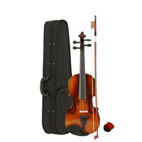 New 1/2 Basswood Natural Violin Fiddle for Student Beginner with Case Bow Rosin