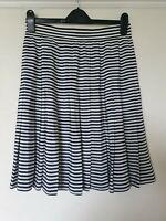 Vintage St Michael Striped Flare Nautical Skirt Size 14