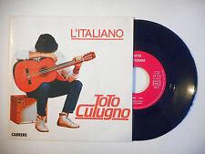"""TOTO CUTUGNO : L'ITALIANO - SARA ♦ PORT GRATUIT 45T ITALIE / 7"""" ITALO ♦"""