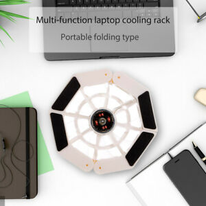 DR-S08 Laptop Cooling Stand Portable Folding Cooling Fan USB Powered Notebook