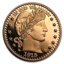 1 Unze Copper Round Barber Half Dollar 999,99 AVDP