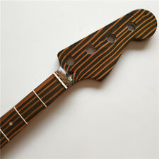 zebra wood 4 string 20 Fret P style Bass Neck Guitar Parts