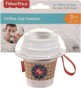 NEW Fisher Price Coffee Cup Teether from Mr Toys