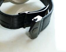 20mm for Tag Heuer Carrera Leather Band Strap with PVD Deployment Clasp