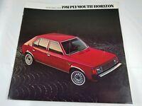 Vintage 1981 Plymouth Horizon Front Wheel Drive Brochure Automotive Collectible