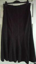 BHS Ladies Long Panel Skirt Black Size 16
