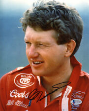 BILL ELLIOTT SIGNED AUTOGRAPHED 8x10 PHOTO NASCAR LEGEND BECKETT BAS