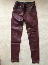 Burberry Pilton Skinny Coated Jeans 27 W 32 L