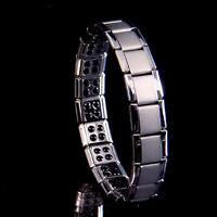 Stainless Steel Germanium Bracelet Bio Magnetic Health Care Energy Mens Jewelry