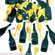 Table confetti Cheers Champagne Bottle Congratulations  New Year