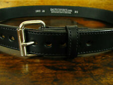 "Mens Thick Deep Black Stitched Bullhide Gun Belt 1 1/2"" Fits 36-38"" Made in USA"