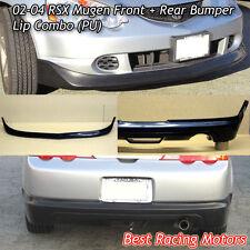 Mu-gen Style Front + Mu-gen Style Rear Lip (Urethane) Fits 02-04 Acura RSX 2dr