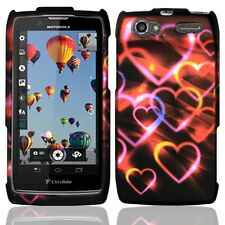 For Motorola Electrify 2 XT881 HARD Protector Case Phone Cover Colorful Hearts