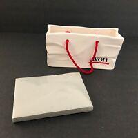 Vintage Avon Shopping Bag Memo Paper Holder 1988 NEW with Box
