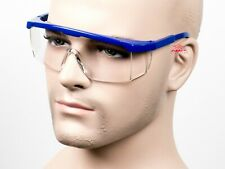 Gateway Strobe Blue Clear Fit Over Most Safety Glasses Telescoping Side Shields
