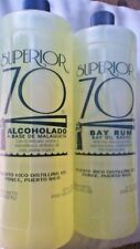 2 LARGE Superior 70 Bay Rum Alcohol Aftershave 25.4oz Bay Oil Malagueta Alcolado