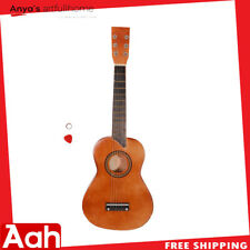 """Entry-Level 25"""" Acoustic Guitar With Pick & String Coffee Color"""