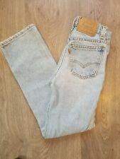 "Vintage Levi's 505 Orange Tab Student Fit Slim 10 Girl's Jeans 23x25"" Made In US"