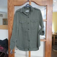 Zara Woman Premium Collection Olive Green Shirt size 10