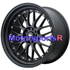 XXR 521 18 Flat Black Rims Wheels Staggered 5x114.3 Stance 04 08 11 12 Mazda Rx8