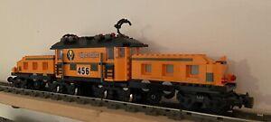 Lego Krokodil Lokomotive MOC 9v Motor Trains Eisenbahn 46cm
