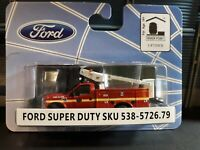 HO SCALE RIVER POINT STATION 538-5726.79 Ford F450 Fire Department Bucket Truck