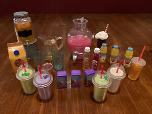 Lot Of 18 Inch Doll Our Generation Accessories Fit American Girl Food Drinks Cup