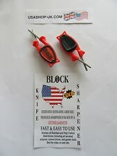 Couteau Sharpener-The famous 'Block' Système, USA Made TWIN PACK. @ £ 15.00 * FREE POST