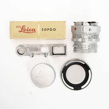 Leitz Leica 5cm 50mm F2 Dual Summicron M Mount w SDPOO Eyes Hood Bundle Haze Sep