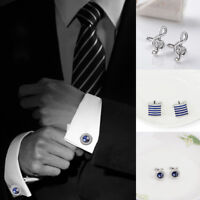 Men Cufflinks Tie Claps Formal Suit Shirt Tie Clip Wedding Business Accessories