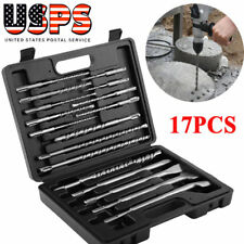 17pcs Rotary Hammer Drill Sds+ Plus Bits Chisel Set Concrete Fits for Hilti