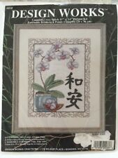 Design Works 9858 Harmony & Tranquility Counted Cross Stitch Kit Orchid New USA